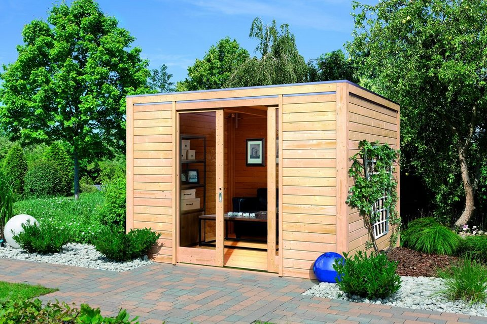 Gartenhaus »Cubus Front (BxT: 320 x 320 cm)« in natur