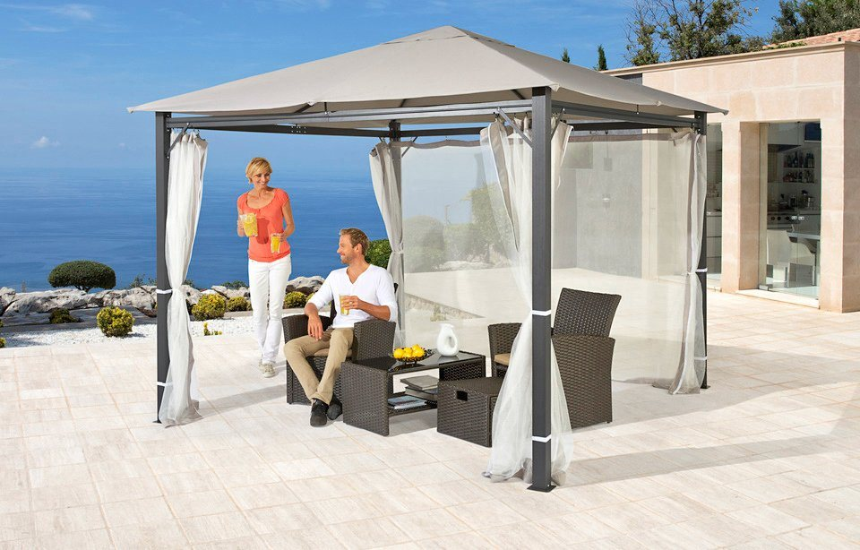 moskitonetz seitenteile f r pavillon alu hellgrau in 2 gr en online kaufen otto. Black Bedroom Furniture Sets. Home Design Ideas
