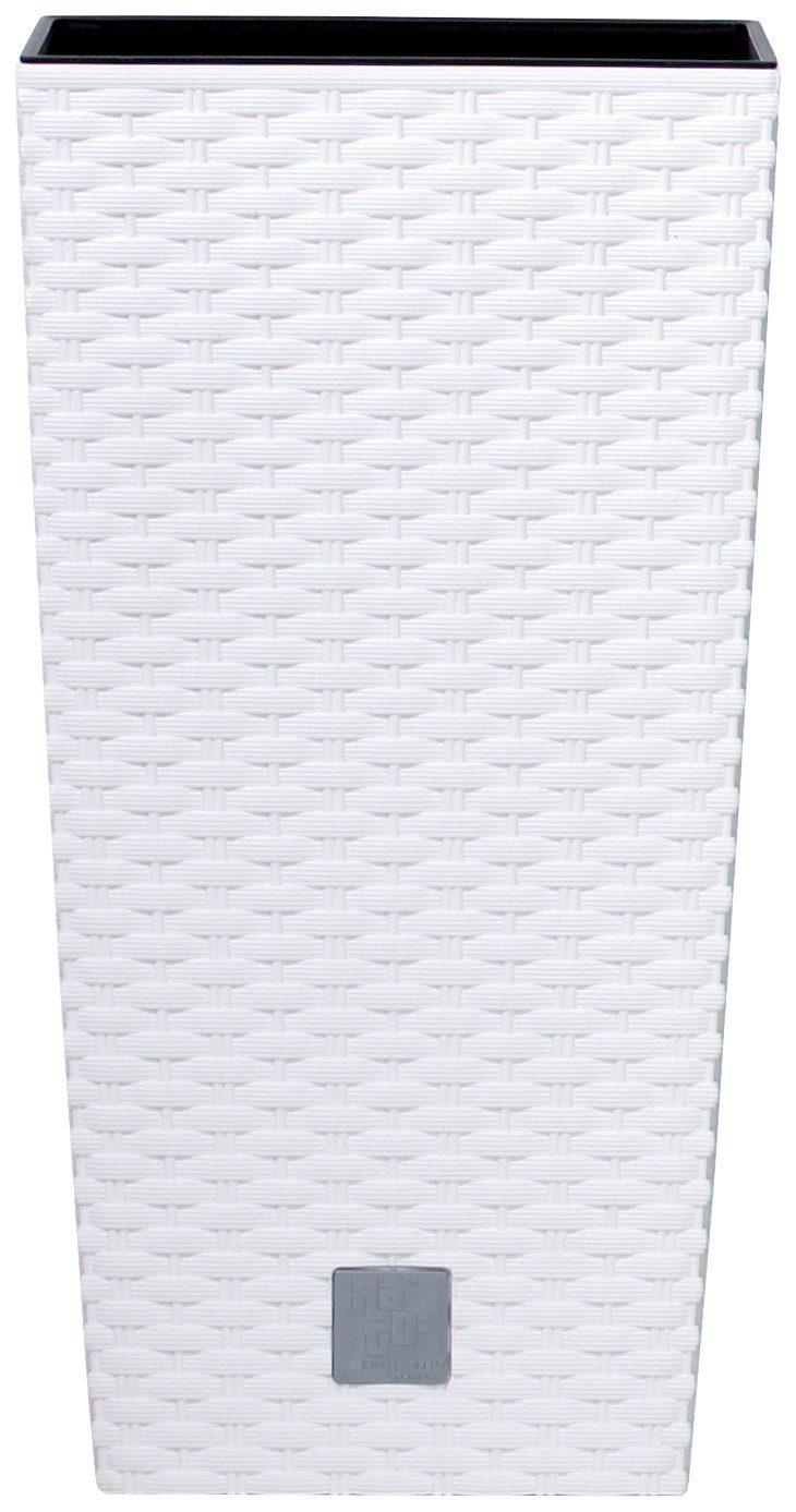 Prosperplast Blumentopf »Rato Square 400«, weiß, B/T/H: 40/40/75 cm