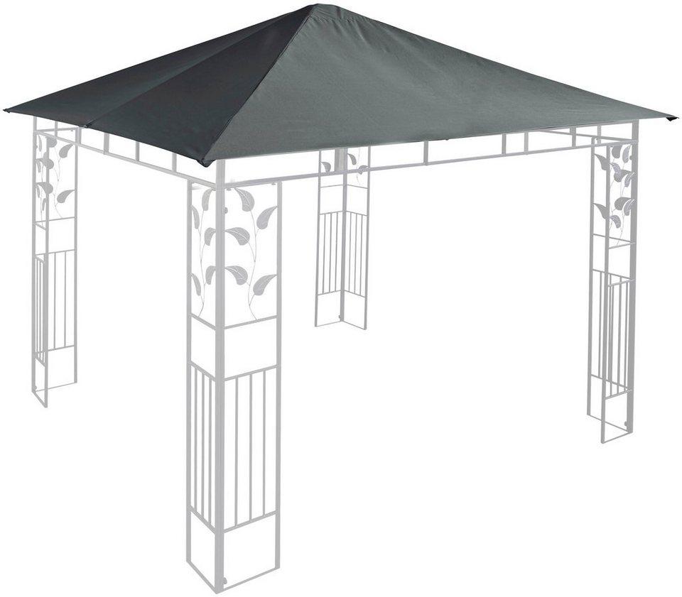 ersatzdach f r pavillon bl tter anthrazit in 2 gr en. Black Bedroom Furniture Sets. Home Design Ideas