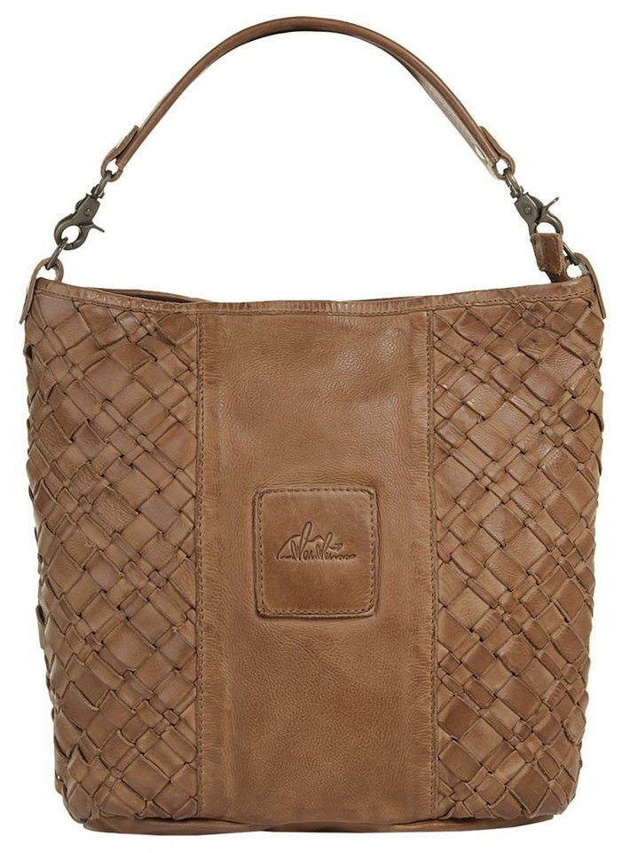 WouWou Leder Damen Handtasche in cognac