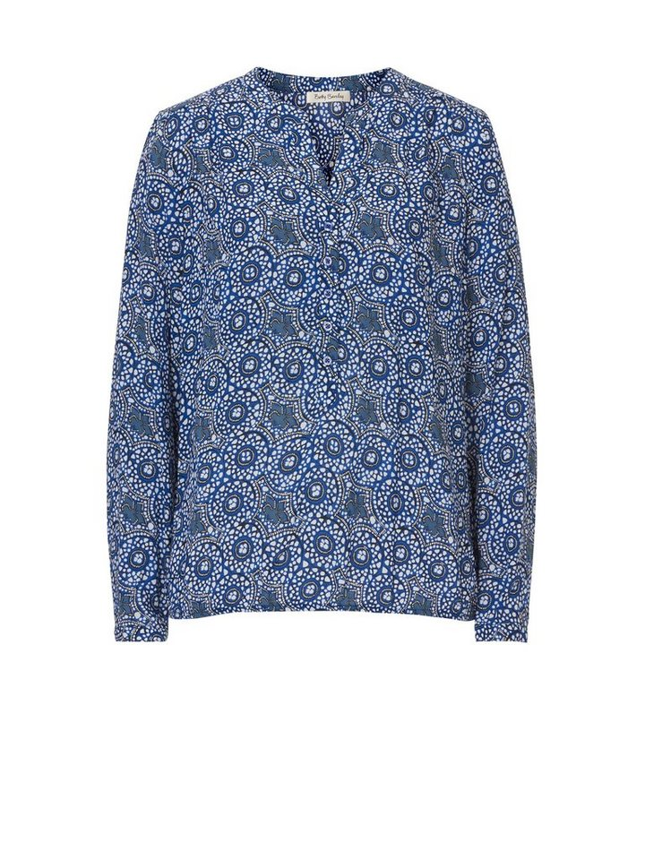 Betty Barclay Bluse in Blau/Weiß - Bunt