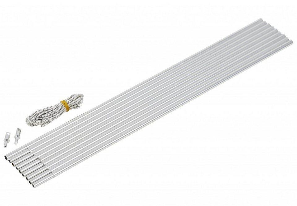 CAMPZ Zeltzubehör »Bogengestänge Alu 9,5mm 4,65m« in silber
