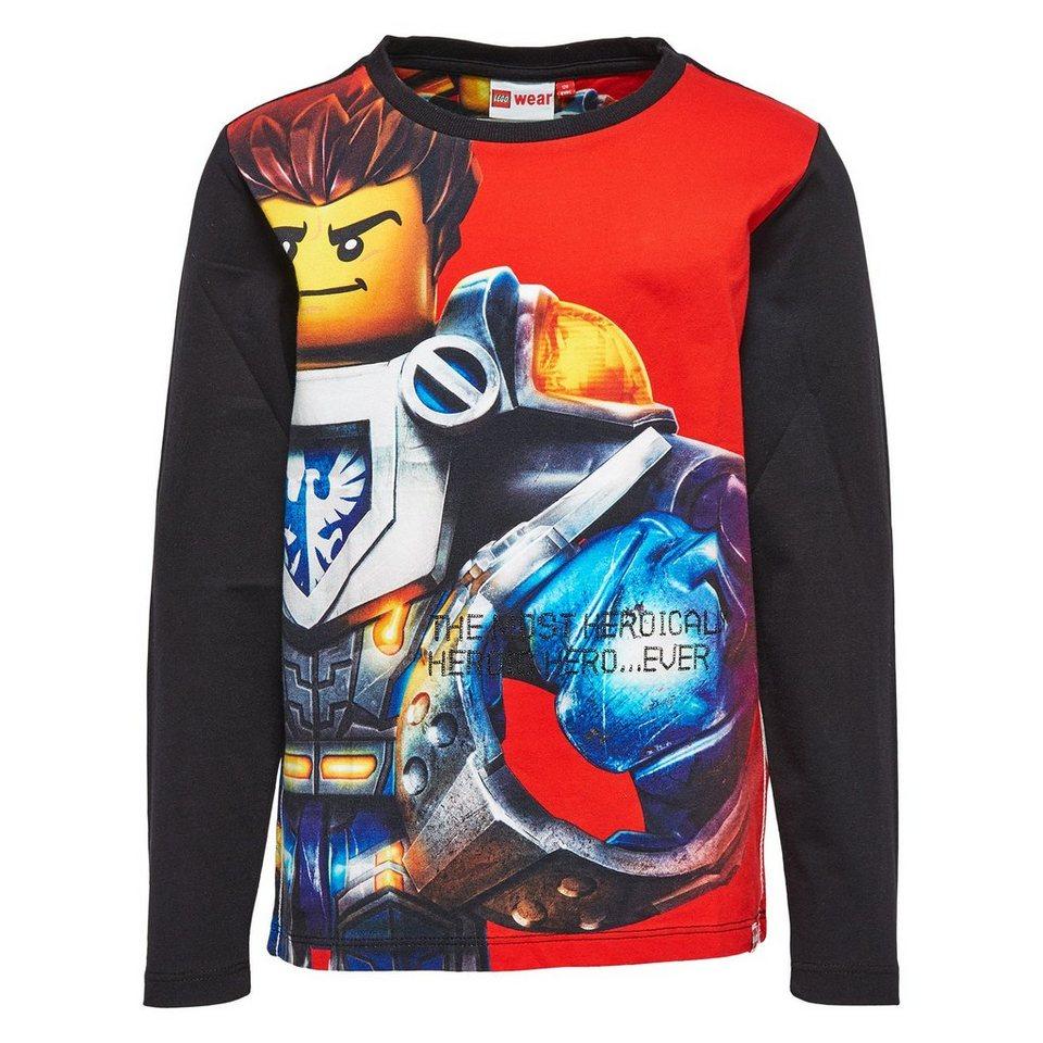 "LEGO Wear Ninjago Langarm-T-Shirt Tony ""Heroically Hero"" langarm Shirt in rot"
