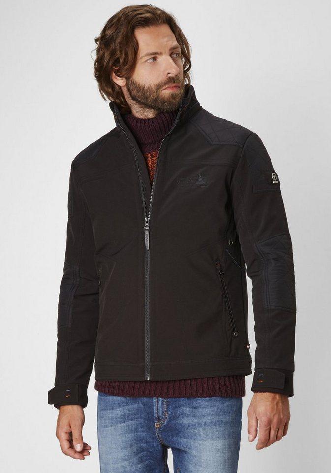 Redpoint wasserabweisende Softshell Jacke »Vince« in schwarz