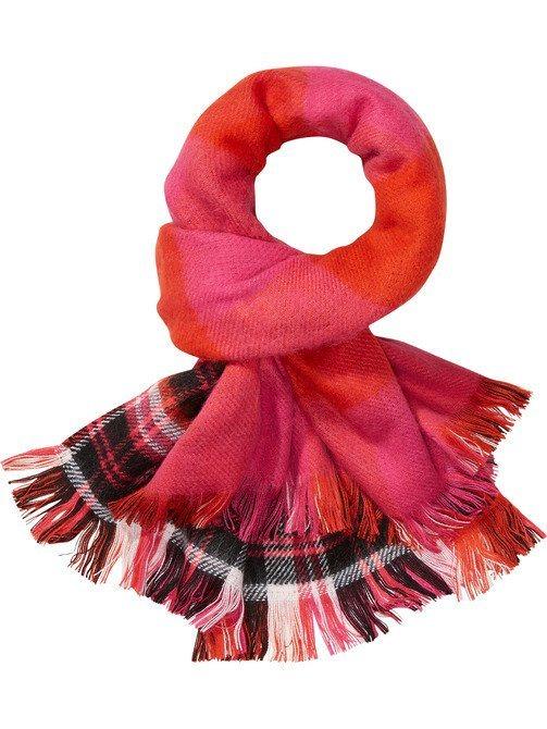 Maison Scotch Schal »brauner Schal mit Muster« in bunt