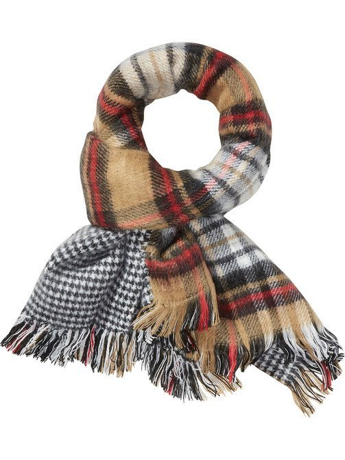 Maison Scotch Schal »Double sided patterned & brushed scarf« in bunt