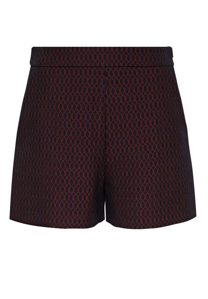 HALLHUBER Jacquard-Shorts mit Wabenmuster in multicolor