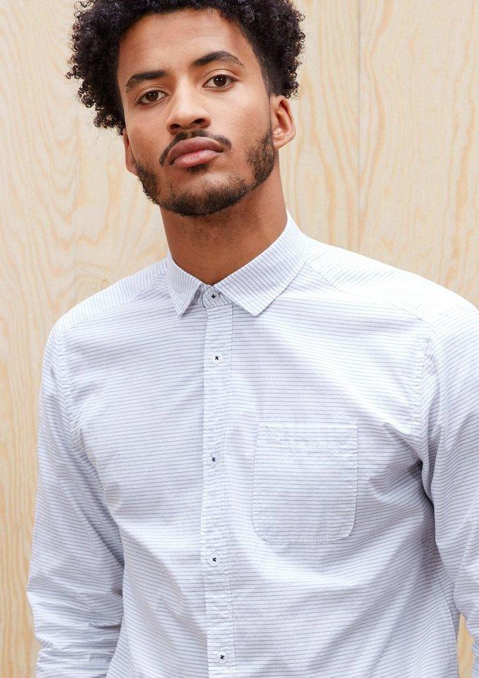 s.Oliver RED LABEL Regular: Gestreiftes Hemd in white