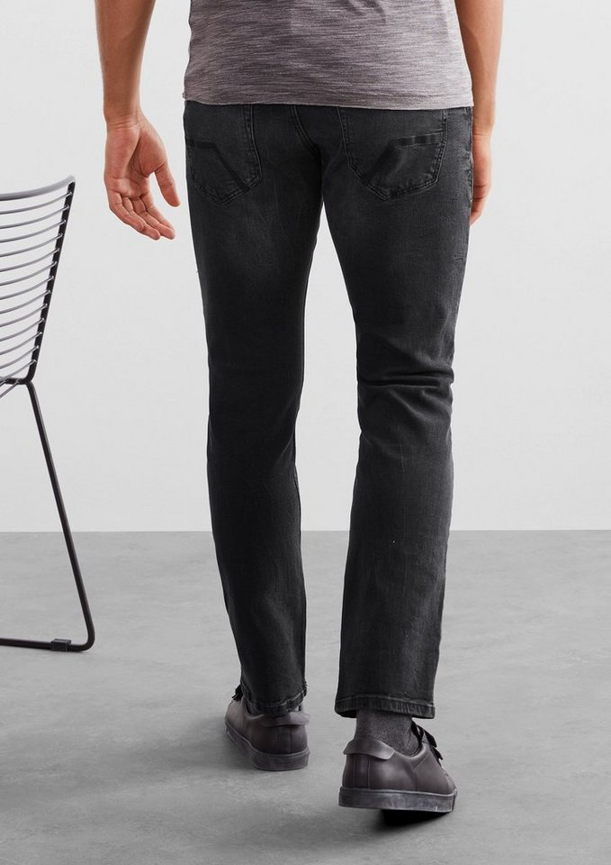 Q/S designed by Rick Slim: Graue Stretch-Jeans in dark grey