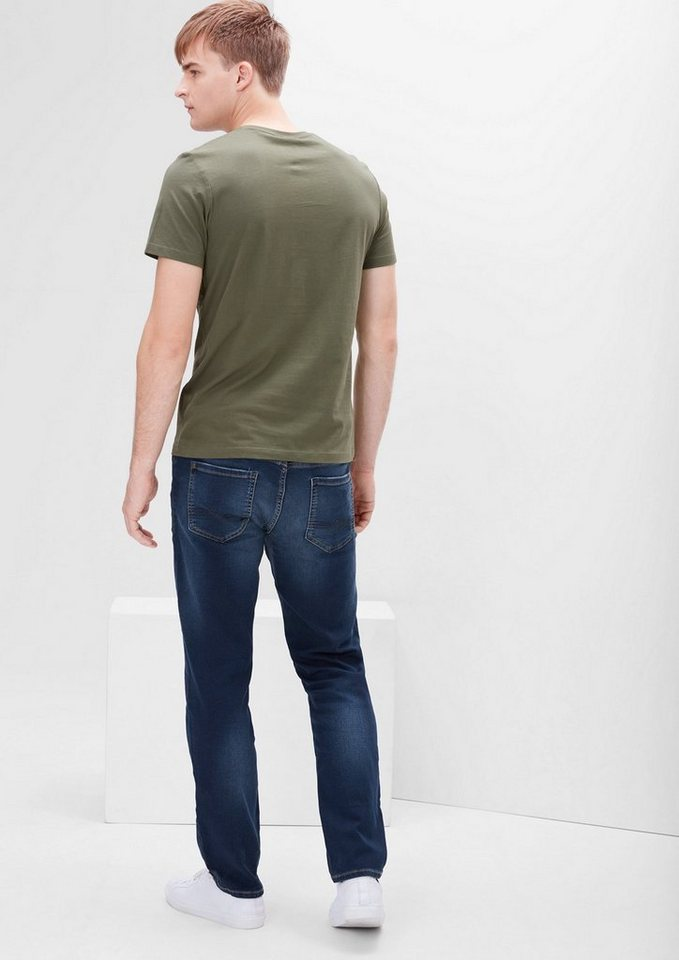 s.Oliver RED LABEL Tubx Straight: Bequeme Stretch-Jeans in blue denim stretch