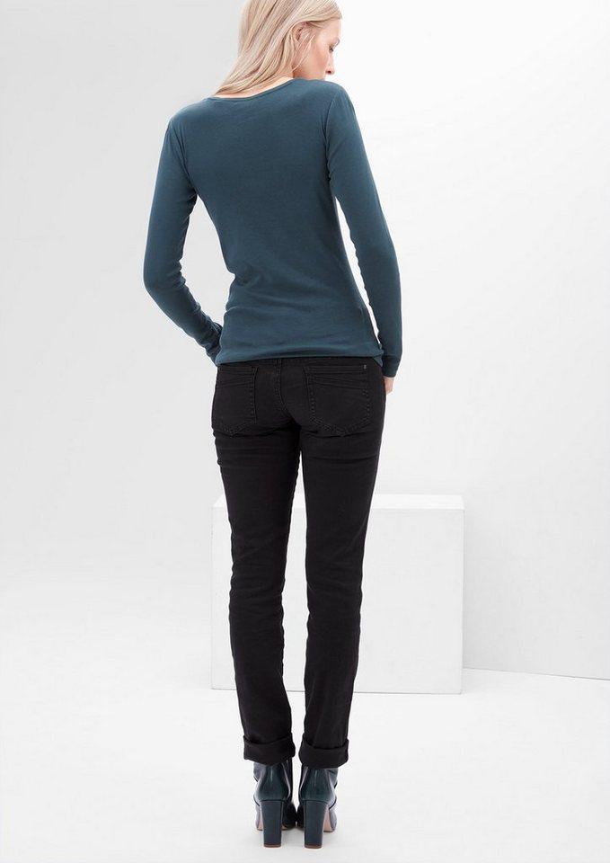 s.Oliver RED LABEL Shape Slim: Colored Stretch-Jeans in black denim stretch