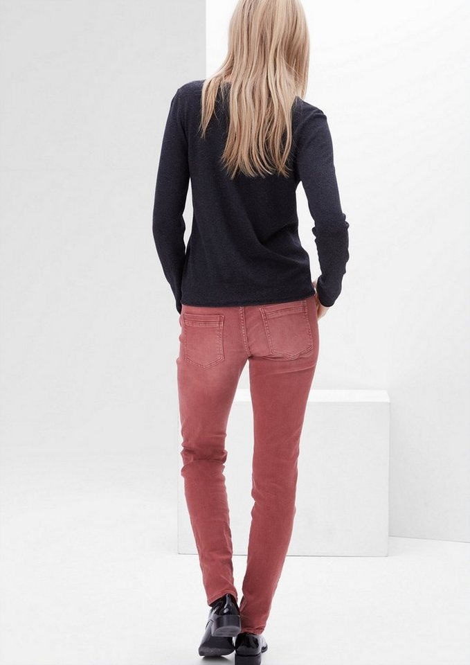 s.Oliver RED LABEL Shape Superskinny: Garment Dye-Jeans in tandoori red denim s