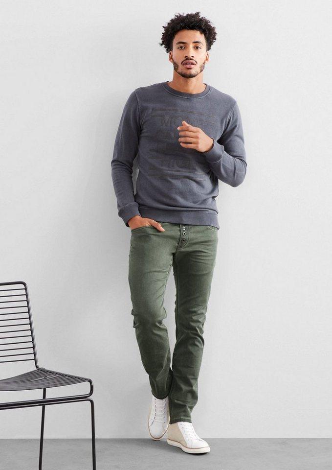 Q/S designed by Rick Slim: Garment Dye-Jeans in green