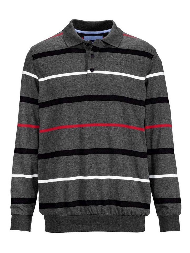 Babista Sweatshirt mit garngefärbtem Streifenmuster in anthrazit-rot