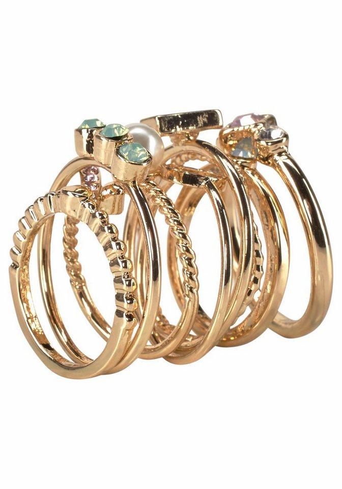 J. Jayz Ring-Set im modischen Design in goldfarben