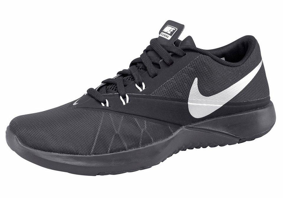 Nike »FS Lite Trainer 4« Trainingsschuh in schwarz-silberfarben