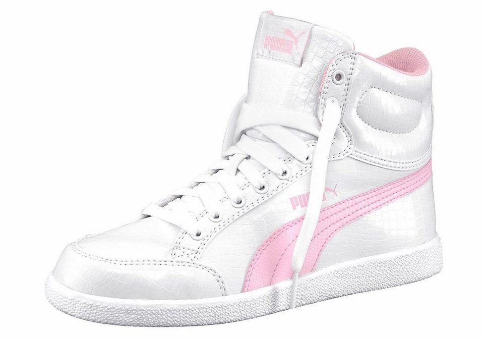 PUMA »Ikaz Mid Serpent Junior« Sneaker in weiß-rosa