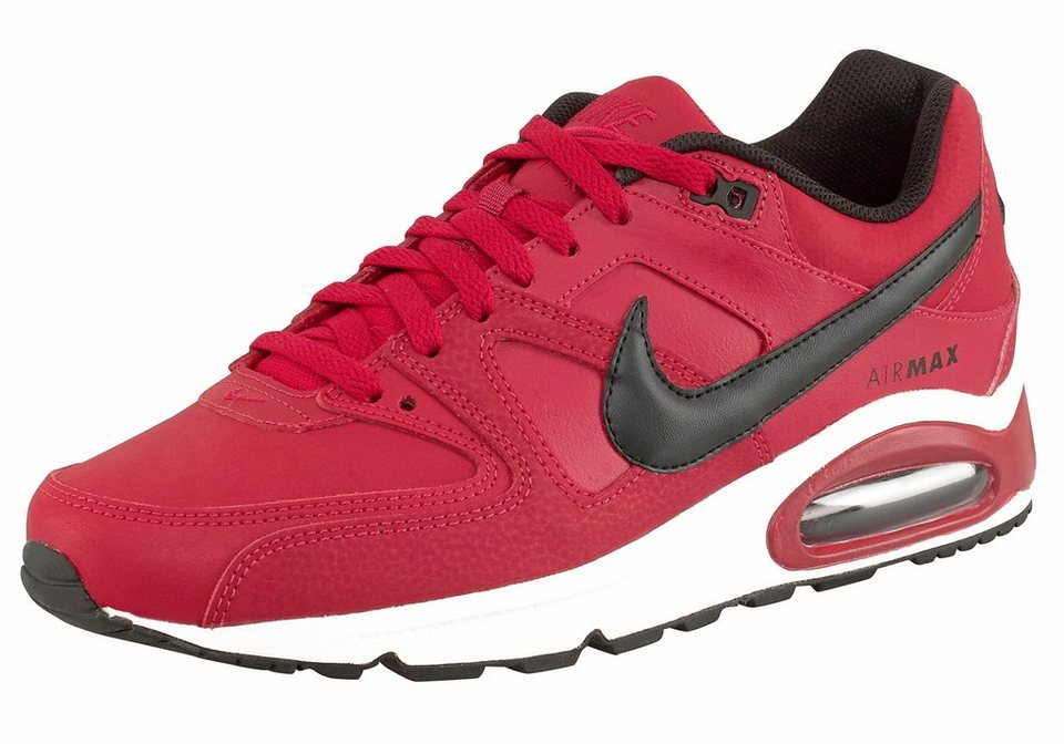 Nike »Air Max Command Leather« Sneaker in rot-schwarz