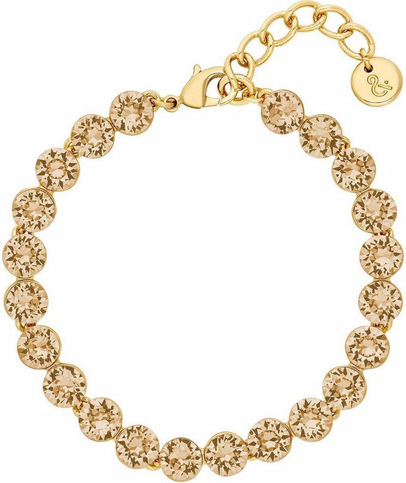 Lolaandgrace Armband »PALACE BRACELET, 5251849« mit Swarovski® Kristallen in goldfarben-champagner