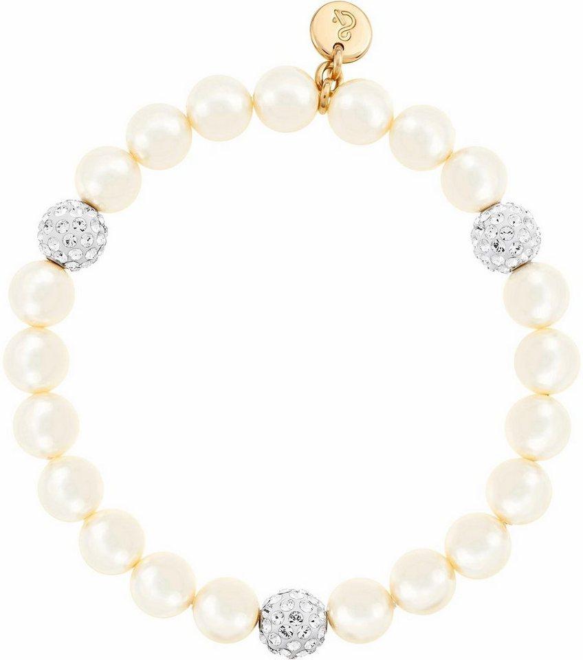 Lolaandgrace Armband »OCEAN STRETCH BRACELET, 5140975« mit Swarovski® Perlen in roségoldfarben-weiß