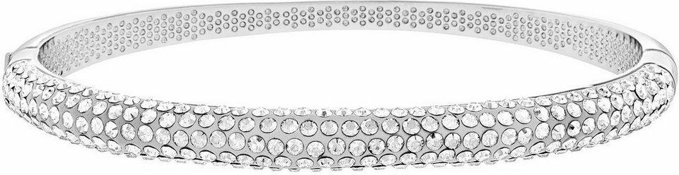 Lolaandgrace Armreif »VEGAS HINGE BANGLE, 5099587« mit Swarovski® Kristallen in silberfarben-weiß