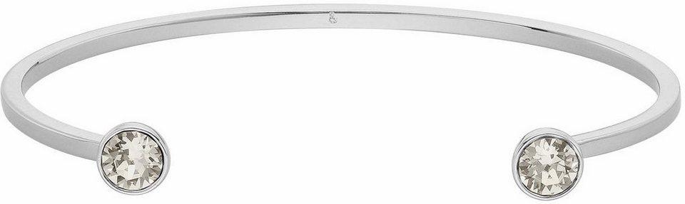 Lolaandgrace Armspange »STONE SLIM U-CUFF, 5217051« mit Swarovski® Kristallen in silberfarben-weiß