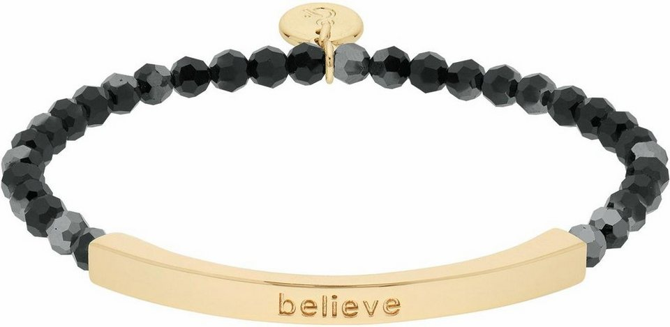 Lolaandgrace Armband »COAST BELIEVE BRACELET, 5251926« mit Swarovski® Kristallen in goldfarben-schwarz