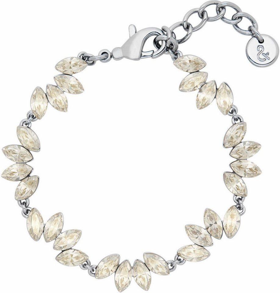 Lolaandgrace Armband »LEAF BRACELET, 5251743« mit Swarovski® Kristallen in silberfarben-weiß