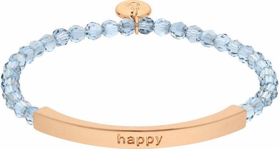 Lolaandgrace Armband »COAST HAPPY BRACELET, 5251928« mit Swarovski® Kristallen in roségoldfarben-blau