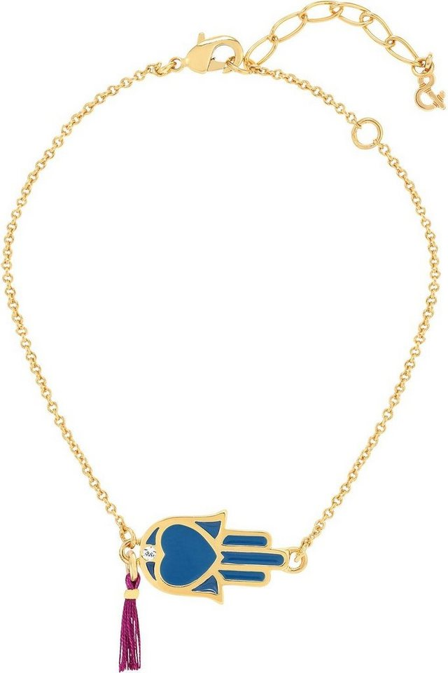 Lolaandgrace Armband »Hand, SPIRITUAL: BRACELET HAMSA HAND, 5167772« mit Swarovski® Kristall in goldfarben-blau-weiß