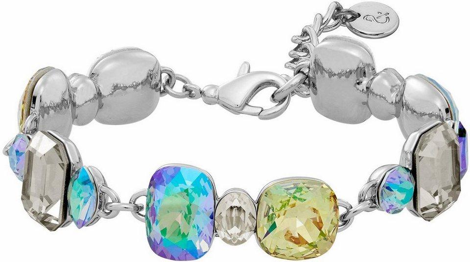 Lolaandgrace Armband »GLAM BRACELET, 5251731« mit Swarovski® Kristallen in silberfarben-mehrfarbig