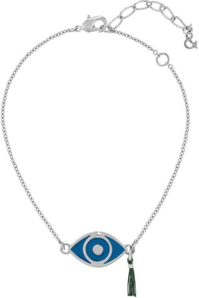Lolaandgrace Armband »Auge, SPIRITUAL: BRACELET EVIL EYE, 5167773« mit Swarovski® Kristall in silberfarben-blau-weiß