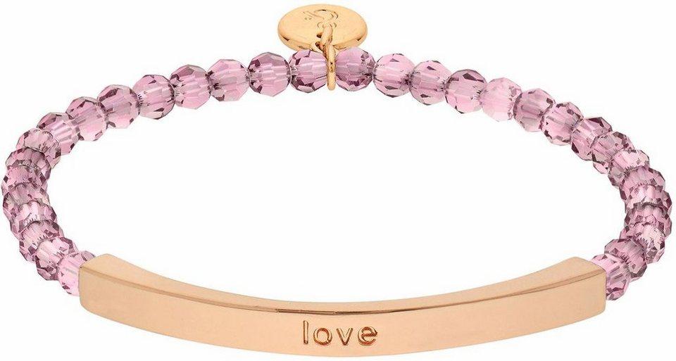 Lolaandgrace Armband »COAST LOVE BRACELET, 5251927« mit Swarovski® Kristallen in roségoldfarben-pink