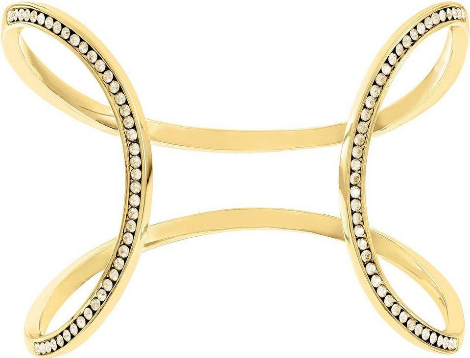 Lolaandgrace Armspange »MILAN OPEN CUFF, 5182876« mit Swarovski® Kristallen in goldfarben-champagner