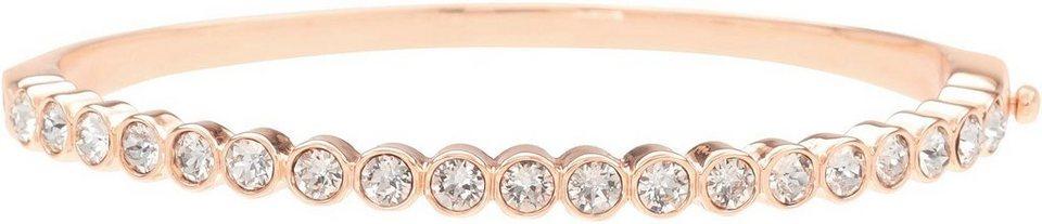 Lolaandgrace Armreif »LANE BANGLE, 5296387« mit Swarovski® Kristallen in roségoldfarben-weiß