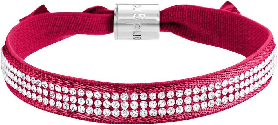 Lolaandgrace Armband »STREET BRACELET, 5117314« mit Swarovski® Kristallen in silberfarben-rot-weiß