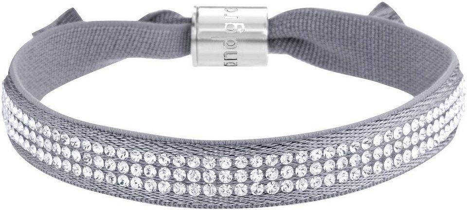 Lolaandgrace Armband »STREET BRACELET, 5117309« mit Swarovski® Kristallen in silberfarben-grau-weiß