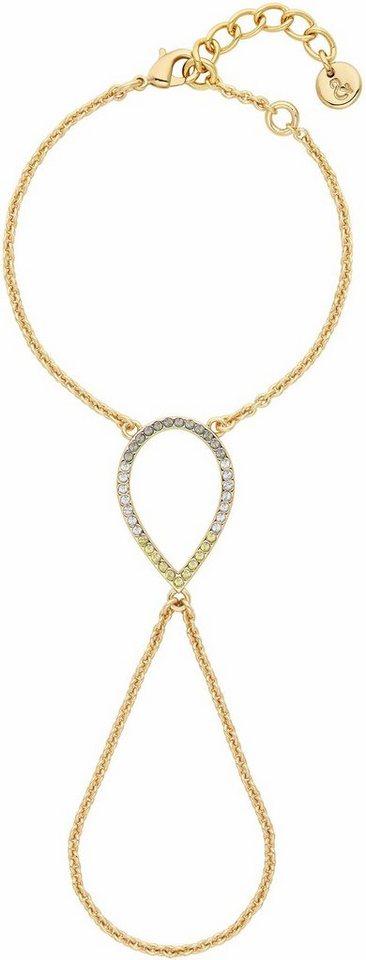 Lolaandgrace Armband »CAPRI BRACELET-TO-RING, 5251963« mit Swarovski® Kristallen in goldfarben-mehrfarbig