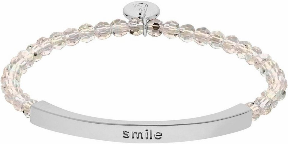 Lolaandgrace Armband »COAST SMILE BRACELET, 5251924« mit Swarovski® Kristallen in silberfarben-weiß