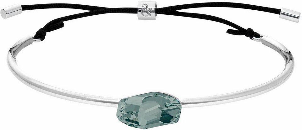 Lolaandgrace Armreif »GALACTIC SLIM CUFF, 5251868« mit Swarovski® Kristall in silberfarben-grau-schwarz