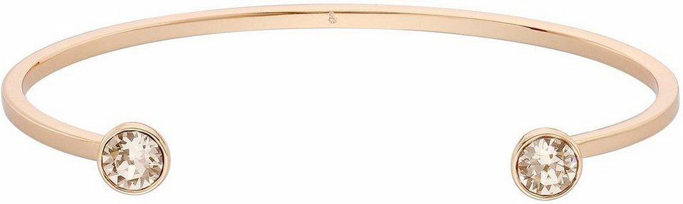 Lolaandgrace Armspange »STONE SLIM U-CUFF, 5217052« mit Swarovski® Kristallen in roségoldfarben-weiß