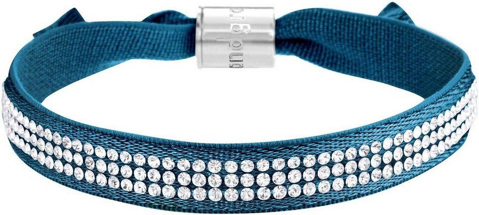 Lolaandgrace Armband »STREET BRACELET, 5117318« mit Swarovski® Kristallen in silberfarben-blau-weiß