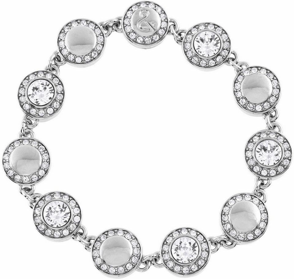 Lolaandgrace Armband »VIENNA ALL-AROUND BRACELET, 5099510« mit Swarovski® Kristallen in silberfarben-weiß