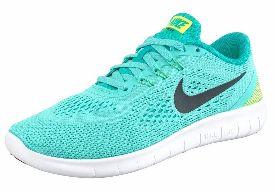 Nike »Free Run« Laufschuh in türkis-schwarz