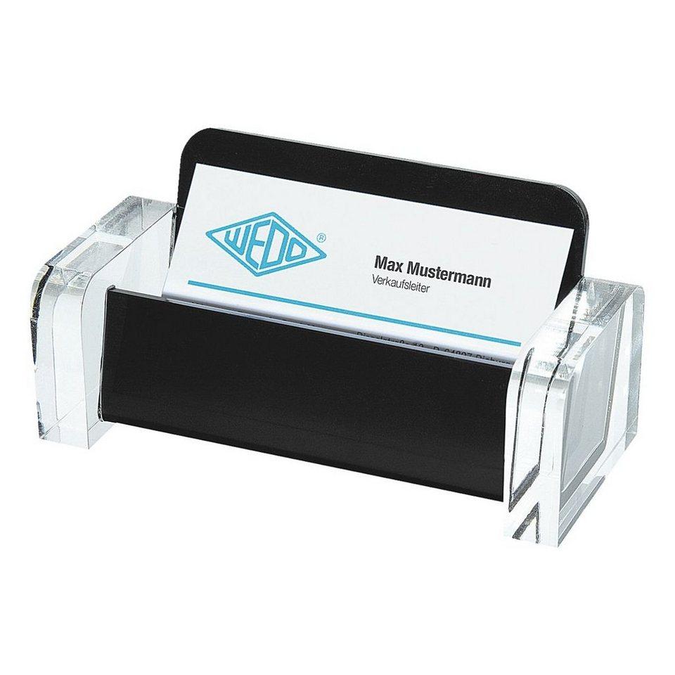 Wedo Visitenkartenhalter »acryl exklusiv« in schwarz