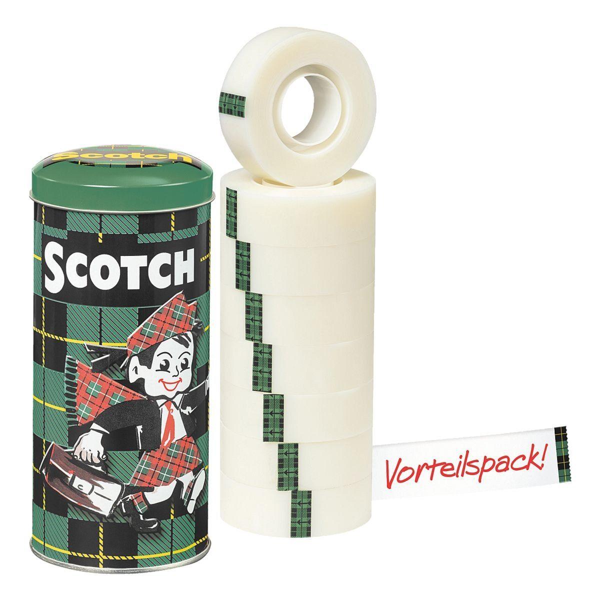 Scotch Klebeband transparent, 19 mm/33 m (B/L), 8 Stück »Magic Tape 810«