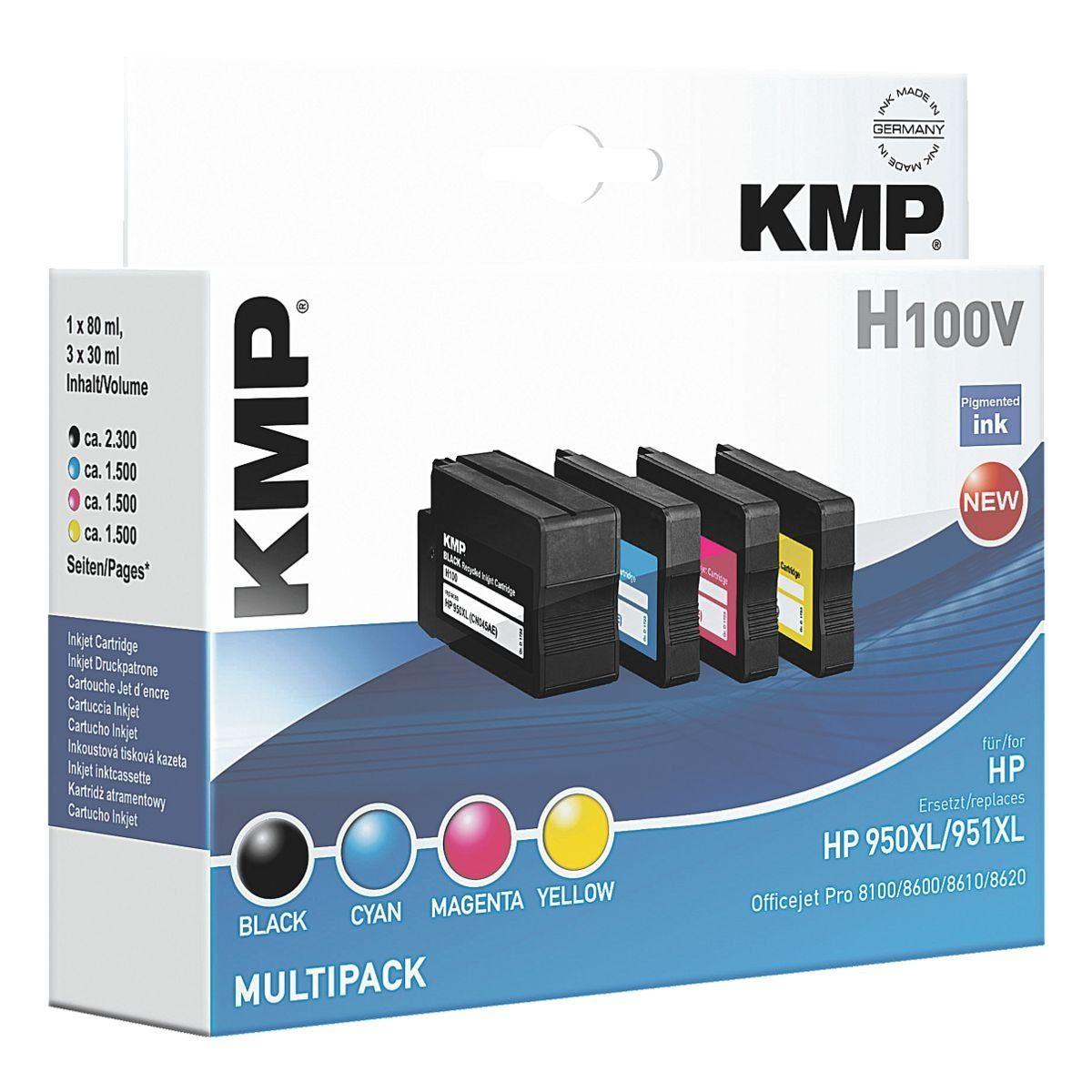 KMP Tintenpatronen-Set ersetzt »HP 950XL/951XL«