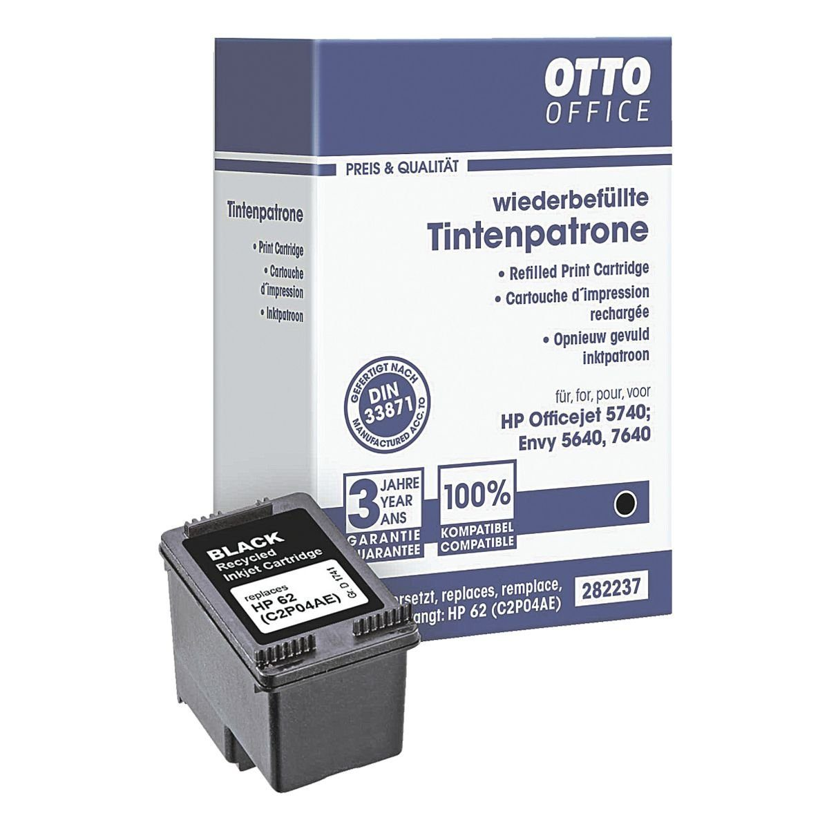 OTTO Office Standard Tintenpatrone ersetzt HP »C2P04A« 62