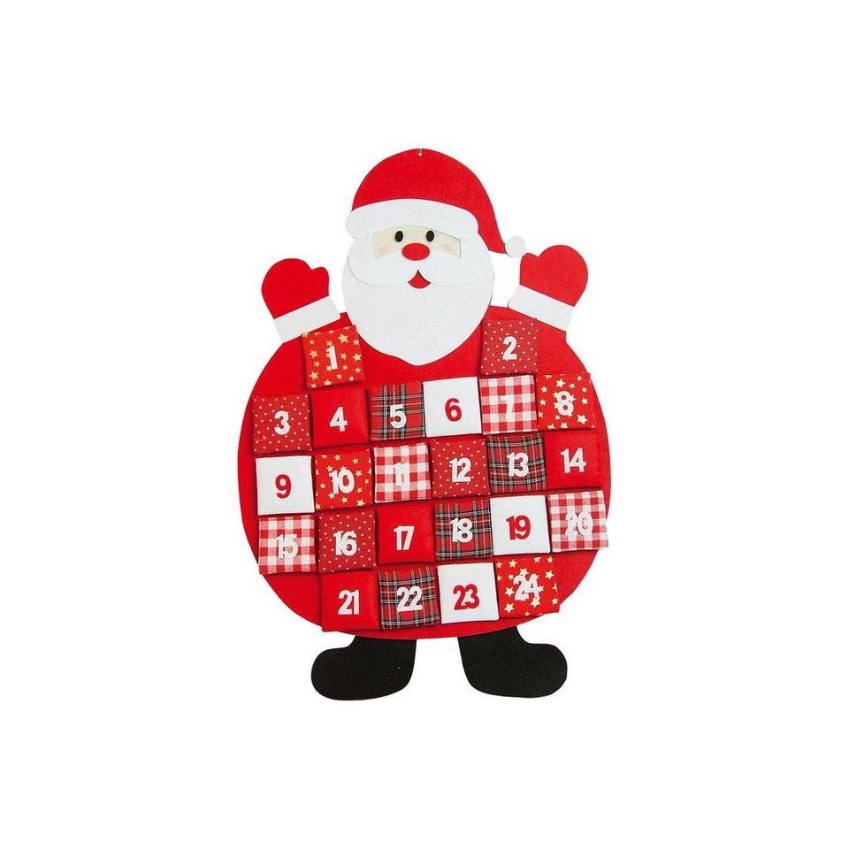 Hotex Adventskalender Santa, 50 x 70 cm